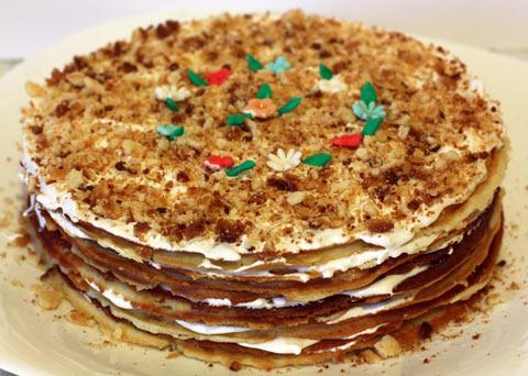 торт из домашних вафель рецепт с фото в домашних