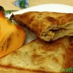Вкусный и простой сэндвич с начинкой из хурмы и кешью