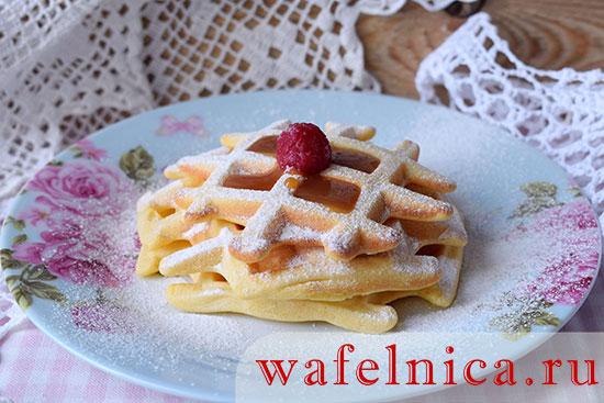 Рецепт печенья вафли для электрической вафельницы